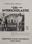 Interscholastic Meet Announcement, 1960 by Montana State University (Missoula, Mont.). Interscholastic Committee