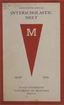 Interscholastic Meet Program, 1916 by State University of Montana (Missoula, Mont.). Interscholastic Committee