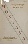 Interscholastic Meet Program, 1922 by State University of Montana (Missoula, Mont.). Interscholastic Committee