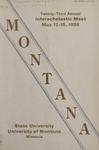 Interscholastic Meet Program, 1926 by State University of Montana (Missoula, Mont.). Interscholastic Committee