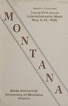Interscholastic Meet Program, 1928 by State University of Montana (Missoula, Mont.). Interscholastic Committee