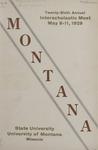 Interscholastic Meet Program, 1929 by State University of Montana (Missoula, Mont.). Interscholastic Committee