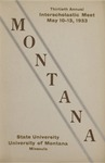 Interscholastic Meet Program, 1933 by State University of Montana (Missoula, Mont.). Interscholastic Committee