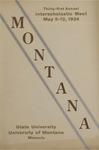 Interscholastic Meet Program, 1934 by State University of Montana (Missoula, Mont.). Interscholastic Committee