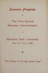Interscholastic Meet Program, 1948 by Montana State University (Missoula, Mont.). Interscholastic Committee