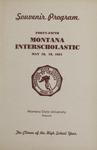 Interscholastic Meet Program, 1951