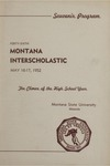 Interscholastic Meet Program, 1952 by Montana State University (Missoula, Mont.). Interscholastic Committee