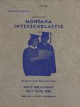 Interscholastic Meet Program, 1955 by Montana State University (Missoula, Mont.). Interscholastic Committee