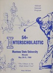 Interscholastic Meet Program, 1960 by Montana State University (Missoula, Mont.). Interscholastic Committee