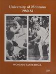 Lady Griz Basketball Program, 1980-1981 by University of Montana (Missoula, Mont. : 1965-1994). Athletics Department