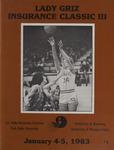 Lady Griz Basketball Program, January 4-5, 1983 by University of Montana (Missoula, Mont. : 1965-1994). Athletics Department