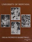 Lady Griz Basketball Program, 1983-1984 by University of Montana (Missoula, Mont. : 1965-1994). Athletics Department
