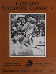 Lady Griz Basketball Program, December 14-16, 1984