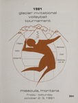 Lady Griz Volleyball Program, October 2-3, 1981