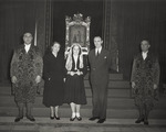 Maureen, Anne, and Mike Mansfield at the Vatican by Creator Unknown