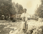 Maureen Mansfield and girl in Missoula, Montana by Creator Unknown