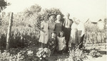 Mike, Maureen, and Anne Mansfield with others in Corvallis, Montana by Creator Unknown