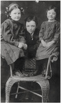 Catherine, Mike, and Helen Mansfield as children by Creator Unknown