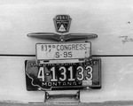 Mike Mansfield's license plate by Creator Unknown