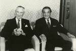 Mike Mansfield and Japanese prime minister Nakasone by Creator Unknown