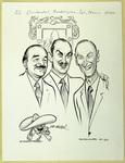 Caricature of Octavio Sentíes Gomez, Alberto Orozco Romero, and Senator Mike Mansfield
