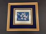 Framed Ceramic Arita Yake Cherry Blossoms