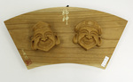 Carved Masks of Ebisu and Daikodu