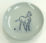 Plate Painted with a Horse