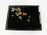 Black Letterbox with Grapevine Decoration