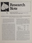 Research Note, March 1980 by Ervin G. Schuster and Hans R. Zuuring