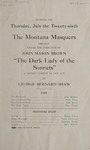 The Dark Lady of the Sonnets, 1923 by State University of Montana (Missoula, Mont.). Montana Masquers (Theater group)