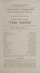 The Piper, 1922 by State University of Montana (Missoula, Mont.). Montana Masquers (Theater group)