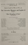 The Tragedy of Nan, 1921 by State University of Montana (Missoula, Mont.). Montana Masquers (Theater group)