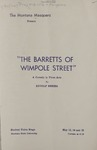 The Barretts of Wimpole Street, 1947 by Montana State University (Missoula, Mont.). Montana Masquers (Theater group)