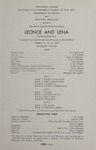 Leonce and Lena, 1963 by Montana State University (Missoula, Mont.). Montana Masquers (Theater group)