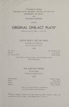 Outer Space, Out of Mind; The Chained Frame; The Drum, 1963 by Montana State University (Missoula, Mont.). Montana Masquers (Theater group)