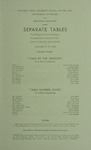 Separate Tables, 1960 by Montana State University (Missoula, Mont.). Montana Masquers (Theater group)