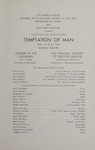 Temptation of Man, 1963 by Montana State University (Missoula, Mont.). Montana Masquers (Theater group)