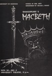 Macbeth, 1976 by University of Montana (Missoula, Mont.: 1965-1994). Montana Masquers (Theater group)