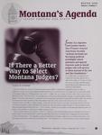 Montana's Agenda, Winter 2008