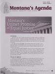 Montana's Agenda, Fall 2009 by University of Montana--Missoula