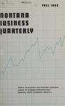 Montana Business Quarterly, Fall 1962