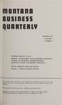 Montana Business Quarterly, Winter 1963