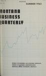 Montana Business Quarterly, Summer 1963