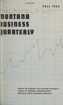 Montana Business Quarterly, Fall 1963