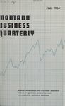 Montana Business Quarterly, Fall 1965