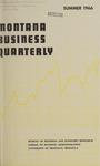 Montana Business Quarterly, Summer 1966