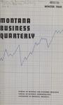 Montana Business Quarterly, Winter 1968