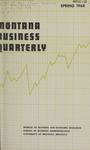 Montana Business Quarterly, Spring 1968