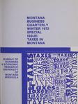 Montana Business Quarterly, Winter 1973